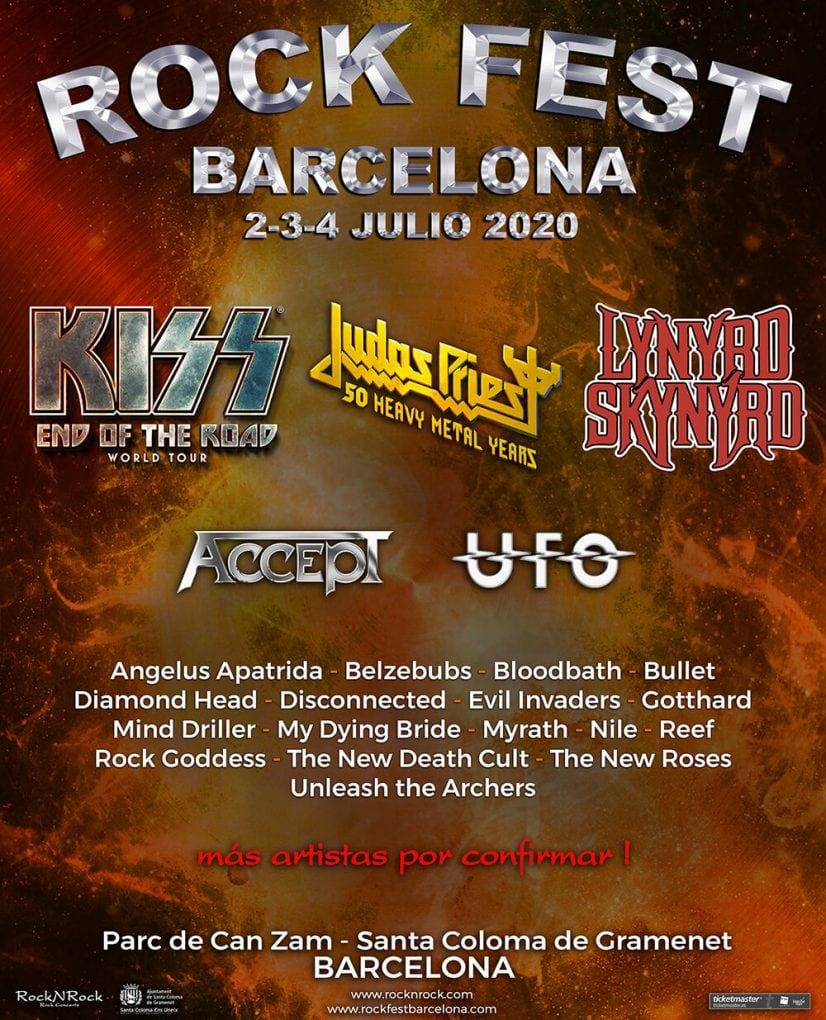 cartel Rock Fest Barcelona 2020 Lynyrd Skynyrd