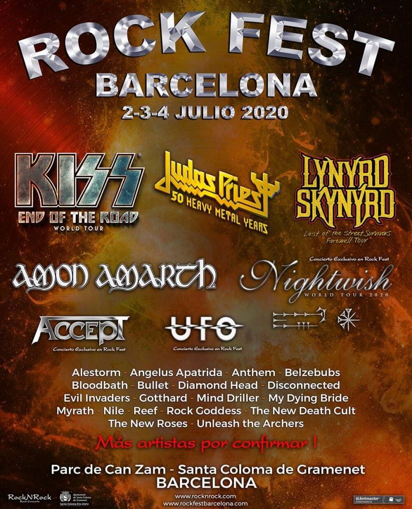 Amon Amarth Rock Fest Barcelona 2020 cartel
