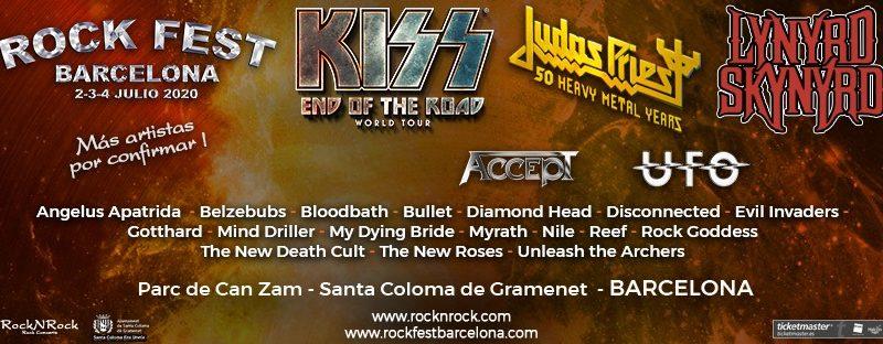 Cartel Rock Fest Barcelona 2020 Lynyrd Skynyrd Kiss Judas Priest