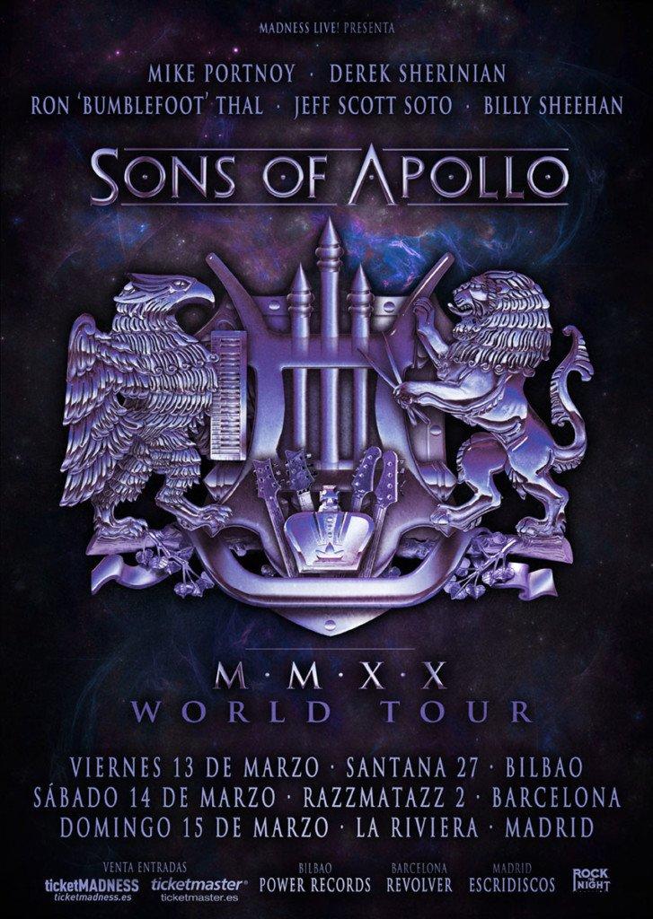 Sons Of Apollo España 2020