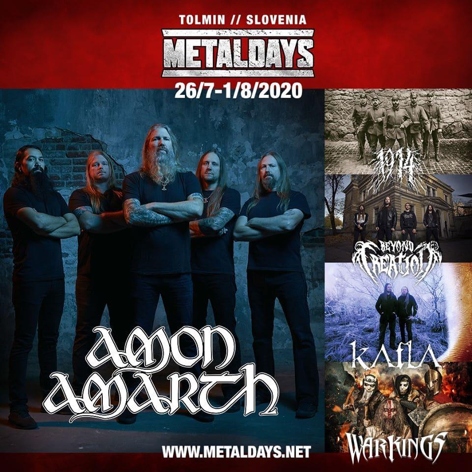 Amon Amarth Metaldays 2020
