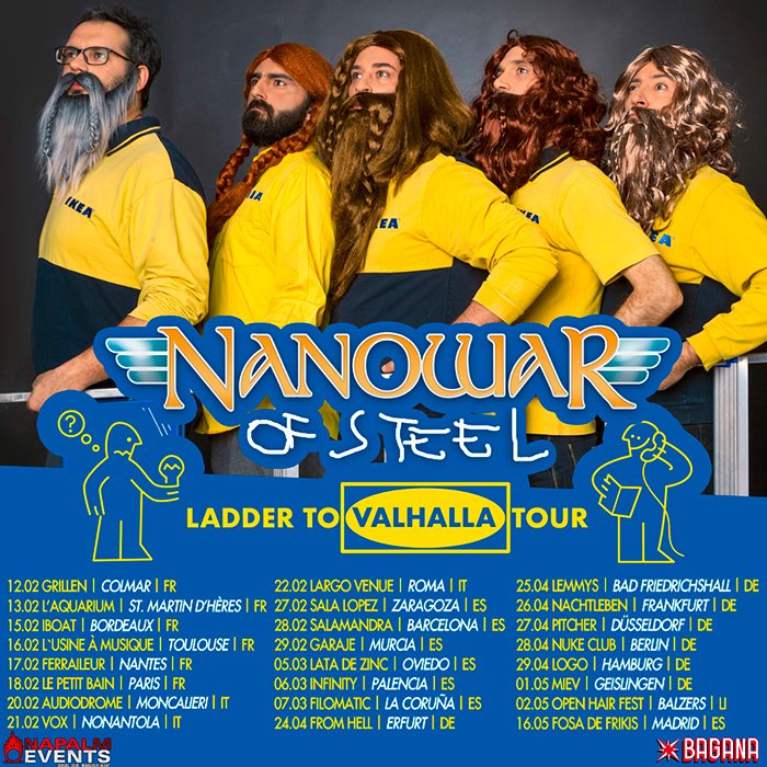 Nanowar Of Steel gira Europa