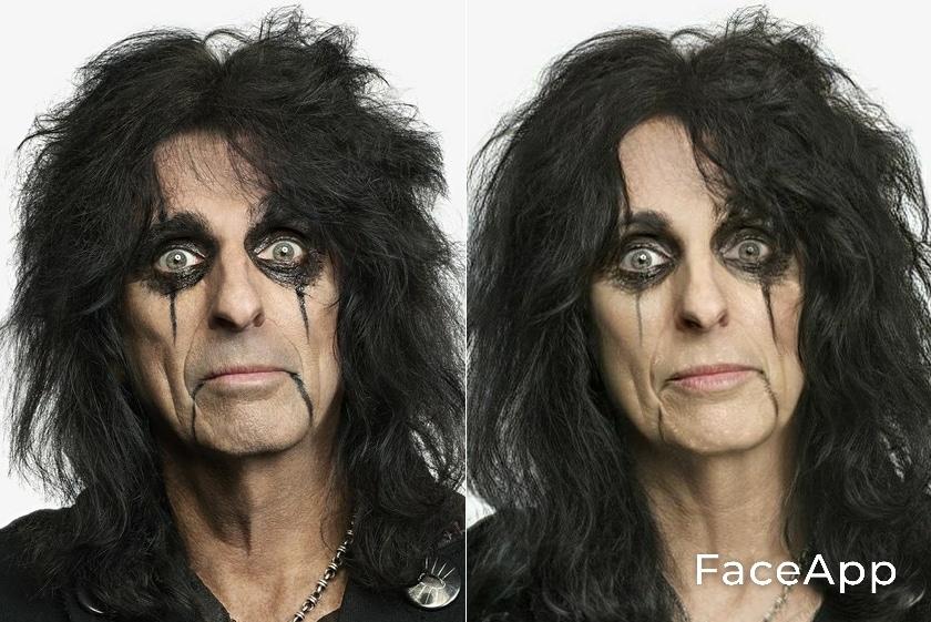 Alice Cooper FaceApp