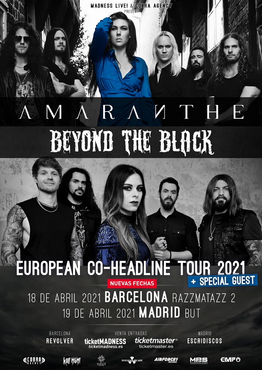 Amaranthe Beyond The Black España 2021
