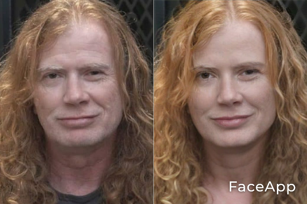 Dave Mustaine FaceApp