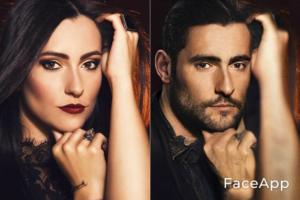 Diva Satánica FaceApp
