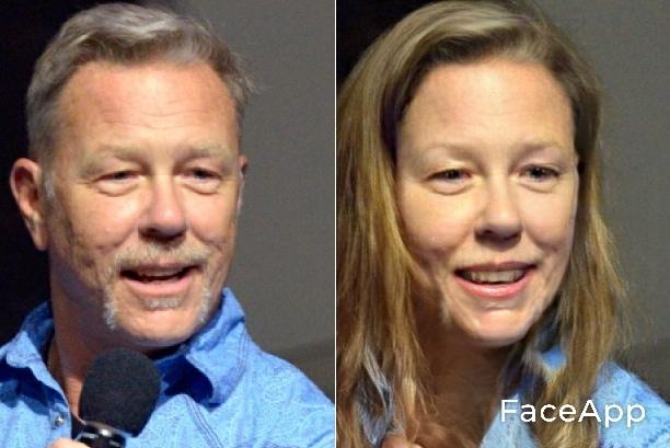 James Hetfield FaceApp