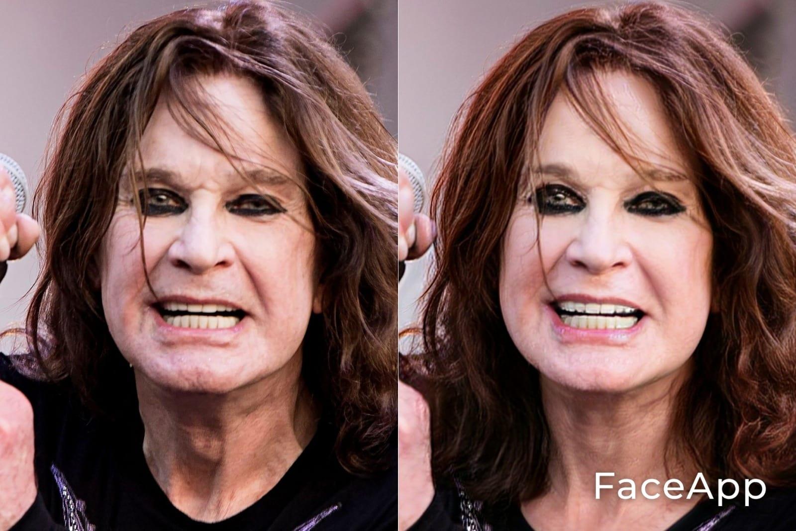 Ozzy Osbourne FaceApp