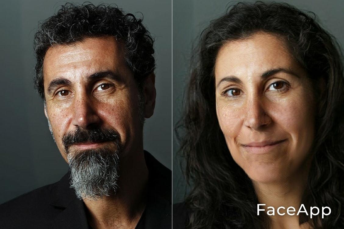 Serj Tankian FaceApp