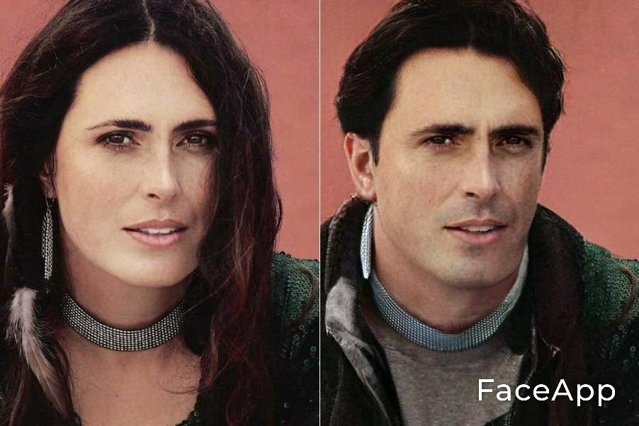 Sharon den Adel FaceApp