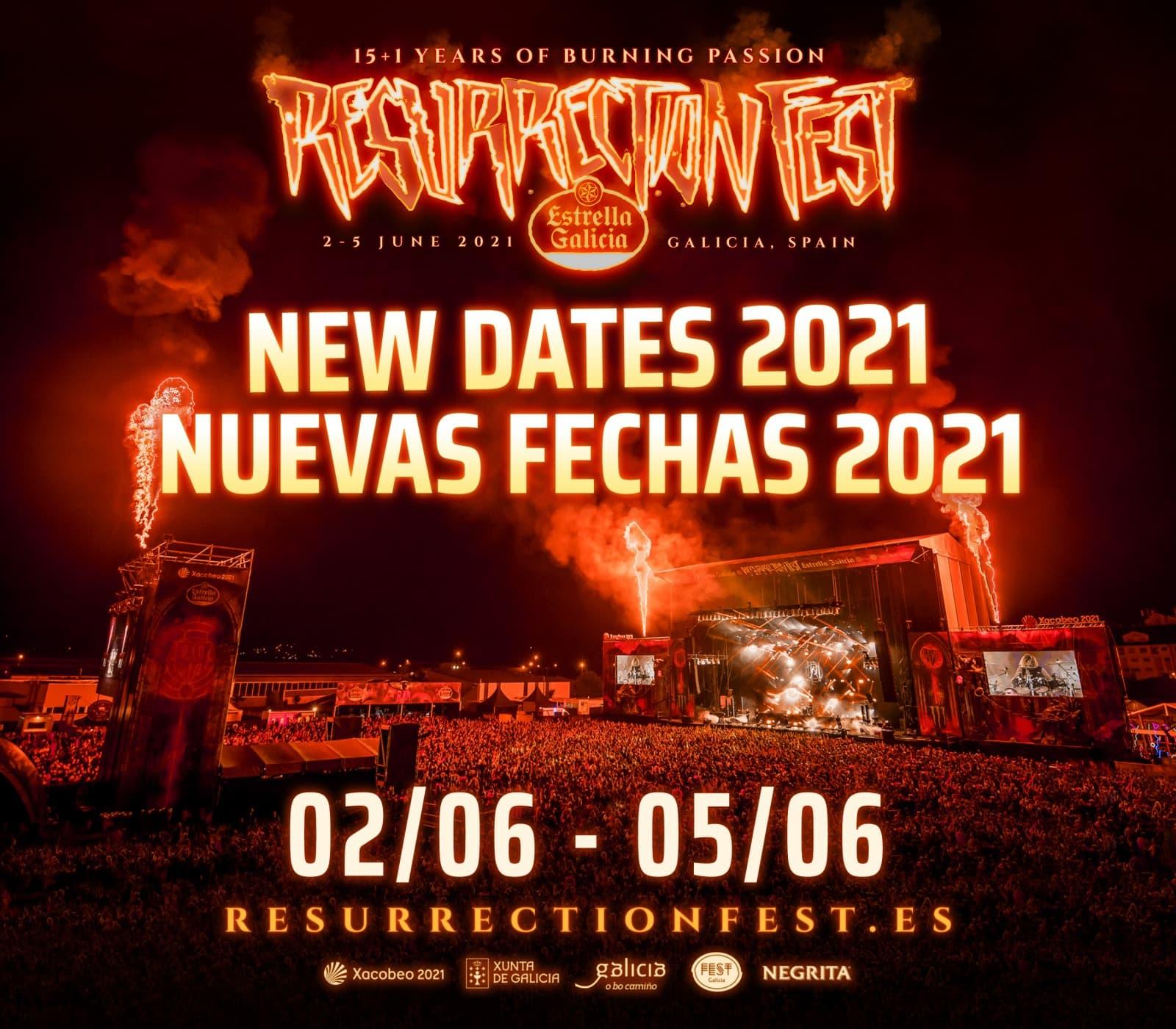 nuevas fechas Resurrection Fest 2021