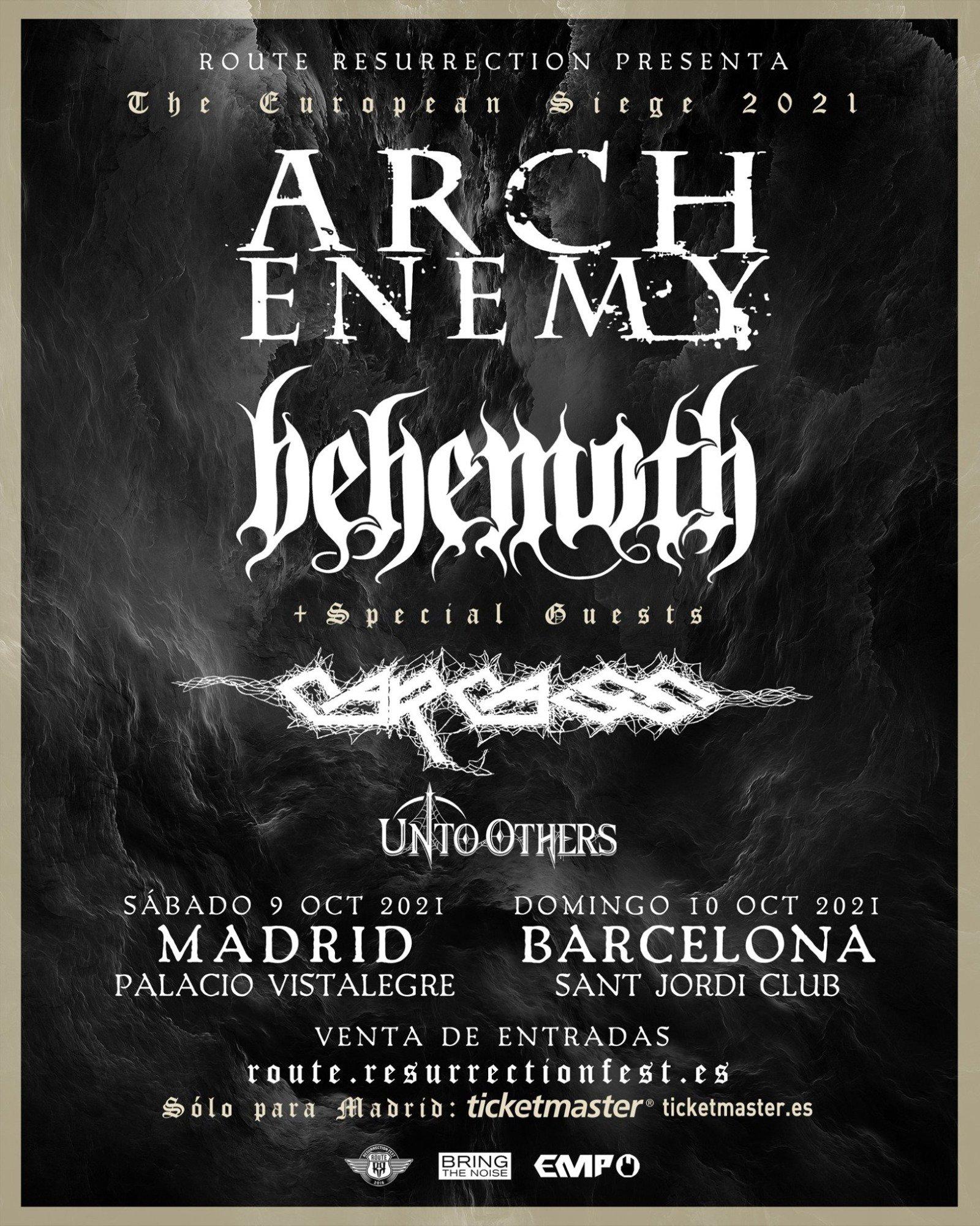 Arch Enemy España 2021