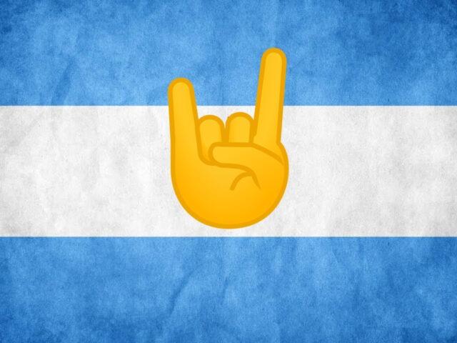 bandera metal Argentina