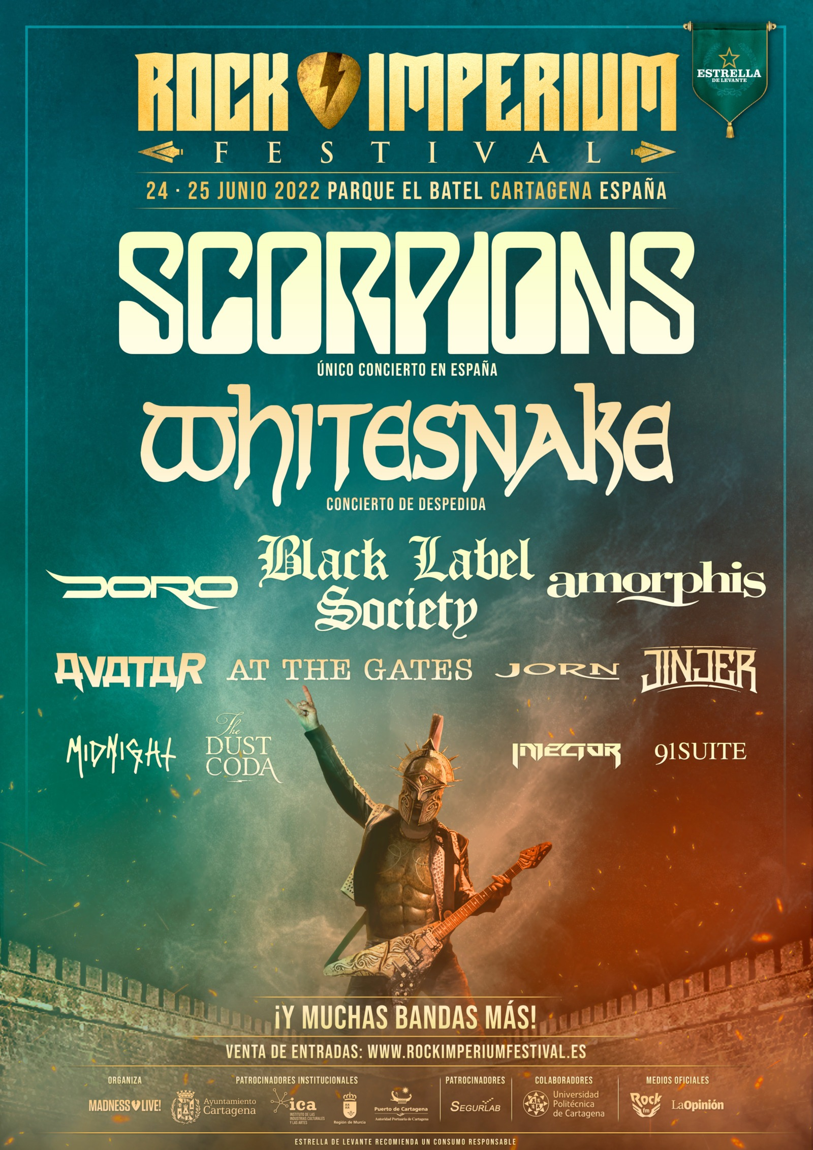 Cartel Rock Imperium Festival 2022 julio 2021